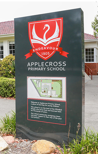 Applecross Primary School Sign
